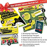 ZYANKALiga GESCHENK-SET: 3 - Das große Saison-Notfall-Set f. BVB-FANs | Gag f. Kollegen z.B. mit Malt Scotch Whisky Lagavulin Glenfiddich Jameson Whisky Buch Set Adventskalender GOURMEO Eiswürfel Whiskysteine