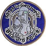Star Wars 501Snowtrooper Bordüre braun bestickt oder Aufnäher Aufbügler Bügelbild 9cm
