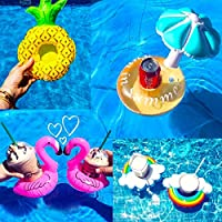 Inflatable Drink Holders 8Packs Swim Drink Floats Coasters Summer Pool Beverage Boat Cup Holders for Pool Party Supplies