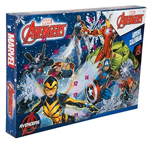 Sambro AVE-6722 Calendrier de l'Avent Marvel Avengers avec Papeterie, Petits Jouets et Stickers pour Enfants à partir de 3 Ans Multicolore
