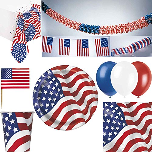 USA Partydeko Dekoration Party Set Amerika 4. Juli