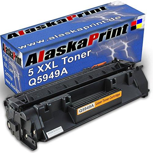 Alaskaprint Premium 5 kompatible Toner als Ersatz für HP Q7553A 5949A XL P 2014 N P 2015 P 2015 D P 2015 DN P 2015 N (Schwarz) -