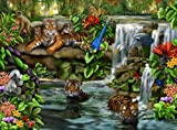 Puzzle 500 Teile - Tiger am Wasserfall - Ravensburger 14105