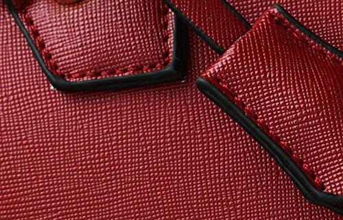 Borse Di Cuoio Di Modo Europei Ed Americani Modello Trasversale Spalla Portatile Tendenza Sacchetto Involucro Della Sacca Red