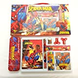 #8: Stationary set for kids cartoon printed 1 drawing book 1 diary 2 pencils 4 crayons 1 pencil-box 2 sharpner 1 eraser for perfect birthday gift return gifts online by ShopKooky