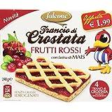 Falcone - Crostata, Frutti Rossi Con Farina Di Mais - 240 G 4 Crostate