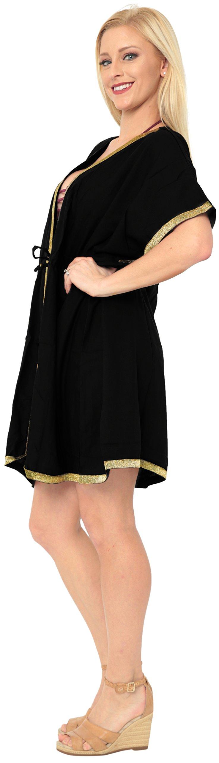 LA LEELA Copricostume Mare Cardigan Donna Taglie Forti- Vintage Rayon Estivo Scialle Elegante Solido Kimono Vestito… 3 spesavip