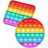 SPRINT GEAR Pop it Fidget Toy, Popit Jouet de remuement Pack Anti Stress, Jeux Pas Cher, Silicone Pop -it Fidgets Toys pour L