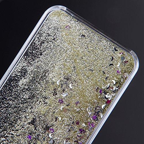 Coque pour iPhone 6, iPhone 6 Coque Liquide Housse Etui Brillante, iPhone 6s Coque Etui Housse Plastique, iPhone 6 Hard 3D Case Plastic Cover, Ukayfe étui de protection Housse Cristal dur Plastique Co Or clair
