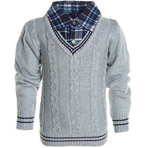 BEZLIT - Maglia - Camicia - Basic - Con bottoni  - Maniche lunghe  -  ragazzo Grau 4 anni