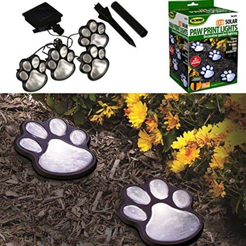 MASUNN Solar Powered Pure White 4 Dog Animal Paw Print Outdoor Led Fairy String Lichter Für Garten (String Animal-print)