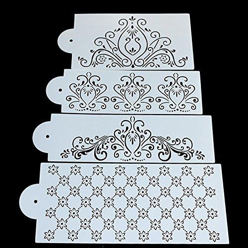 Sugar and Cakes 4 Stencil Icing Back-Schablone Filigran Blumen Air Brush Kuchen Torte Deko Fondant Keks STS11 (Airbrush-board)