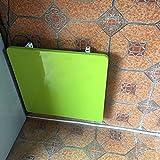 ZXLDP Tavolo Pieghevole A Tavolino Multifunzionale Rettangolare Invisible Tavolo Da Pranzo Tavolo Da Scrivania Scrivania Scrivania Dimensioni Colore Opzionale ( Colore : Verde , dimensioni : 60cm*60cm*2.5cm )