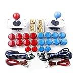 Joystick Boutons Ensemble Arcade DIY Kits Pièces Joystick Ensemble Console De Jeu Bouton Encodeur USB Pour PC Chine Sanwa...