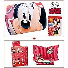 Trapunta + completo lenzuola 3 pezzi MINNIE MOUSE Disney coordinato letto (Letto Disney)