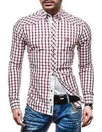 it Amazon bordeaux camicia A Abbigliamento quadri dwRgPwq