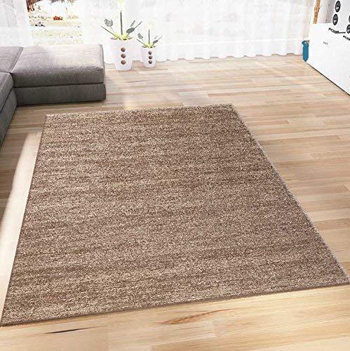 VIMODA Teppich Wohnzimmer Kurzflor Modern Meliert Farbechtheit Pflegeleicht in BRAUN 160x230 cm (Braun Teppich)