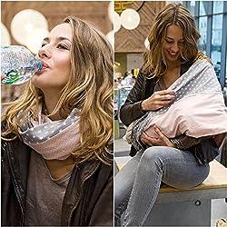 """Mania bufanda para lactancia """"Rossini"""" con depósito integrado para discos de lactancia, en talla 1, para mujeres con talla S-M hecho a mano"""