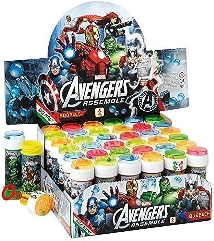 Boîte de 36 ou 6 Enfants Filles Garçons Avengers Iron-Man Bulles Sac De Butin De Groupe Chaussettes De Noël Jouet Jeux - 6 Pots