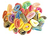 Haargummis ca. 50 Stück bunt mit goldfarbenen Fasern Frottee Zopfbänder Gummibänder Zopfgummis