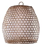 Lampenschirm Basket Bambus XL, 60x60cm - natur, Bambuslampen aus Bali, handgemachte Lampenschirme aus Bambus, als Hängelampe, Pendelleuchte über Esstisch, im Kinderzimmer oder als Wohnzimmerlampe.