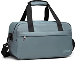 Kono Cabin Bag Under Seat Flight Bag Holdall Carry-on Luggage Travel Bag Unisex (Grey)