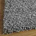 Luxury Shaggy Rug High Pile 5 cm, Won't Fuzz – Silver, 5 Sizes produced by OCR - quick delivery from UK.