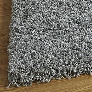 Luxury Shaggy Rug High Pile 5cm, Won't Fuzz-Silver, 5Sizes by OCR