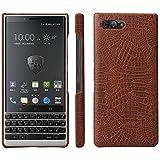 HualuBro BlackBerry KEY2 Case, Premium Crocodile Pattern