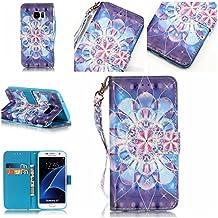 Cozy Hut Shinning diamantes/wallet-Funda de piel sintética con tapa tipo libro para Samsung Galaxy A3 (2016) A310-Funda de piel con diseño de Tribal con compartimento Feather tarjetero y función atril, color negro y blanco