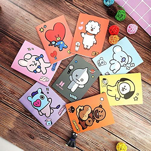VQEWZ 8 Unids Lindo Cuaderno De Dibujos Animados Diy Diario Libreta Para Escribir Creative Planner Paper Para Escribir Útiles Escolares