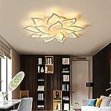 JIAODIE Moderna LED Plafoniera Dimmerabile Creativo Forma di Fiore Disegno Lampada da Soffitto Soggiorno Camera da Letto Stan