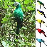 Realistische Papagei Ornament Vögel Nachahmung Animal Outdoor Garten Rasen Baum Decor Free Size grün