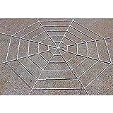 Leezo Décoration Halloween Toile d'araignée géante Stretch araignée Toile d'araignée pour Halloween Décoration fête Noir/Blanc 150cm/360cm 150cm White