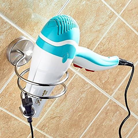 sdkky 304Edelstahl Haartrockner Rack Regal Kanäle multi-hairdryers Halterung Badezimmer Rack Wandhalterung hair dryer support
