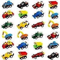 Mini Traction arrière de voiture Truck Modèle Racing Games véhicule Ensemble de jeu jouets pour enfants 24pièces