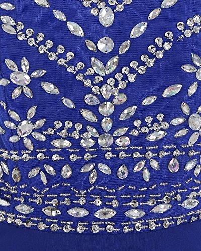 Bbonlinedress Robe de cérémonie Robe de soirée emperlée longueur ras du sol Champagne