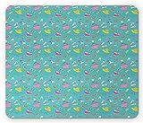 Sommer Maus Pad, Damen-Accessoires und Kleidung Concept Print für voller Freude und ruhigen Summer Holiday, Standard Größe Rechteck rutschfeste Gummi Mauspad, multicolor