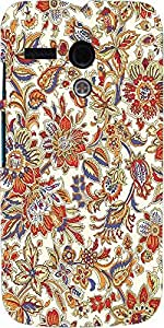 Snoogg Floral Pattern Cream Case Cover For Motorola G