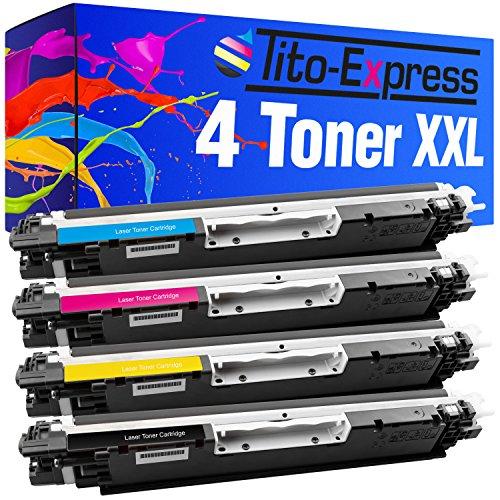 ner-Patronen XXL kompatibel für HP CE310A CE311A CE312A CE313A 126A Color LaserJet Pro CP 1022 CP 1023 CP 1025 NW CP 1025 (Toner Hp 1022)