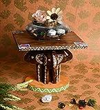 #5: Ansh Artism Wooden Elephant Home Decor Showpiece Coffee Table Show Piece Decor Piece for Living Room