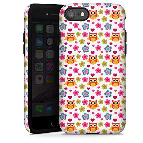 Apple iPhone X Silikon Hülle Case Schutzhülle Eulen Bunt Muster Tough Case glänzend