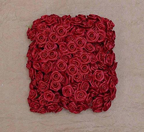 12 Bund = 144 St. Diorröschen Satinröschen Rosen rot