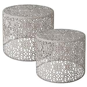 sibo homeconcept forest set 2 tables basses taupe 39 41 cuisine maison. Black Bedroom Furniture Sets. Home Design Ideas