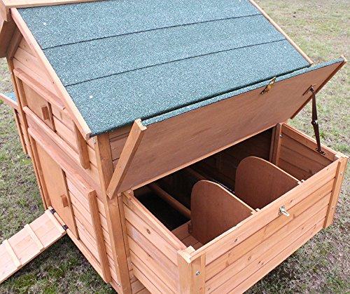"""Hühnerstall Hühnerhaus Chickenhouse Nr. 02 """"Gluckshaus"""" mit legebox und Wanne - 5"""