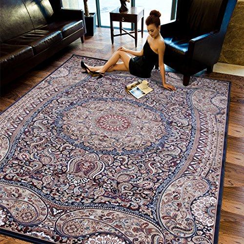 BAGEHUA personalizzata tappeti Turchi 1,5 milioni di euro Unione Soggiorno Tavolino tappeti camera da letto Scendiletto coperta finestra flottante coperta, Spot 1.6X2.3 M peso 22 Kg, BLU 7290A Navy