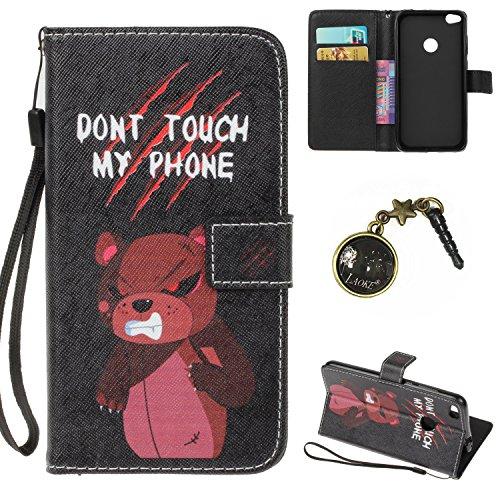Preisvergleich Produktbild PU für Huawei GR3 (2017) Hülle case vintage ledertasche, Handy Schutzhülle fürHuawei GR3 / P8 Lite Smart (2017) Hülle Leder Wallet Tasche Flip Brieftasche Etui Schale (+Staubstecker) (3)