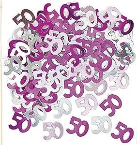 Gifts 4 All Occasions Limited SHATCHI-1170 Shatchi - Confeti de mesa (14 g, 50 unidades), color rosa
