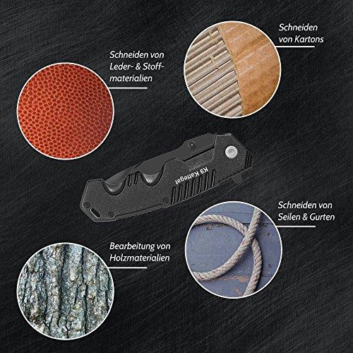 BERGKVIST Klappmesser extra scharf | Mattschwarzes Outdoor Survival Taschenmesser | Kompaktes Einhandmesser mit Edelstahlklinge & Aluminiumgehäuse | Ideal einsetzbar für Freizeit, Arbeit, Wandern & beim Camping - 6