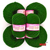 #8: Vardhman Acrylic Knitting Wool, Pack of 6 (Green) (Pack of 6)